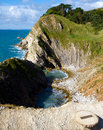 Free Stair Hole Next To Lulworth Cove Dorset England Stock Image - 27011641