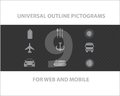 Free Web Universal Outline Symbols Stock Photography - 27016342