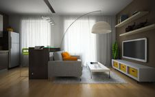 Free Part Of The Modern Apartment Royalty Free Stock Images - 27014249