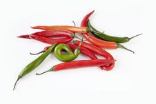 Free Chilli Peppers Royalty Free Stock Image - 27015086
