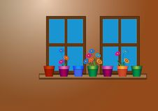 Free Windows With Flowers Do Stock Photos - 27017433