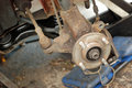 Free Wheel Stripped Down Ready For New Disc Brake. Royalty Free Stock Photos - 27020068