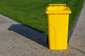 Free Yellow Recycling Container Royalty Free Stock Image - 27023086