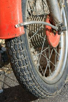 Wheel Motorcycle Close Up Stock Photos