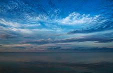 Free Beautiful Sky Over The Baltic Sea Stock Image - 27020751