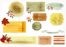 Free Vector Vintage Labels Royalty Free Stock Photography - 27021547