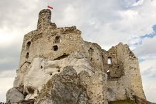 Ruins Of Mirow Castle. Royalty Free Stock Photos