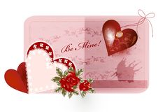 Free Pretty Valentine Card Royalty Free Stock Photos - 27022178
