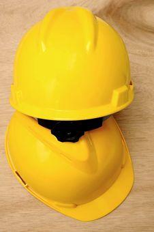 Free Two Yellow Helmet Stock Photography - 27024632