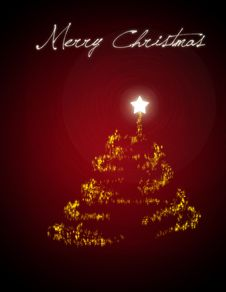 Christmas Tree/ Christmas Card Royalty Free Stock Photography