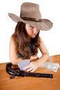 Free Cowboy Girl With Gun Royalty Free Stock Photos - 27031158