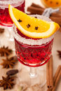 Free Mulled Wine With Spices And Orange Slices Stock Photos - 27033743