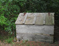 Free Old Wooden Outside Storage Box With Lid. Royalty Free Stock Photography - 27039507