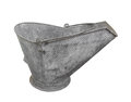 Free Old Metal Coal Scuttle Or Bucket Isolated. Stock Photography - 27039562