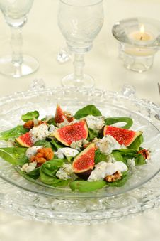 Free Fig Salad Royalty Free Stock Photos - 27030468