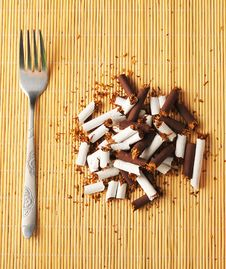 Free Cigarette Meal Stock Photos - 27030763