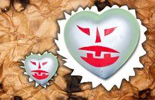 Free Devil Heart. Stock Photo - 27031630