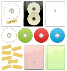 DVD - CD Case Set Royalty Free Stock Photography