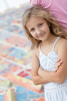 Portrait Of A Pretty Blonde Girl Royalty Free Stock Images