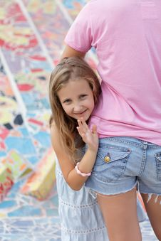 Free Cute Blonde  Girl On A Walk Royalty Free Stock Photos - 27032138