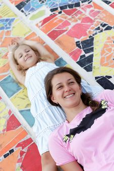 Free Portrait Of Happy Mother And Daughter Stock Image - 27032351