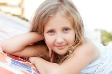 Free Portrait Of A Pretty Blond  Girl Outside Stock Photography - 27032392