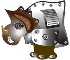 Free Rhinoceros Robot Royalty Free Stock Image - 27034876