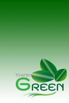 Green Concept, Think Green&x28;include Clipping Paths&x29; Stock Photos