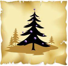 Free Abstract Christmas Tree Royalty Free Stock Photos - 27036488