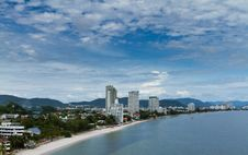 Hua-Hin Beach, Thailand. Royalty Free Stock Photo