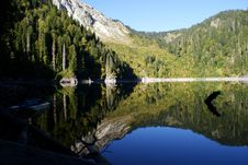 Free Reflection Of Mountains And Forests Stock Image - 27037791