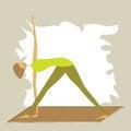 Free Stylized Yoga Triangle Pose. Stock Photo - 27040930