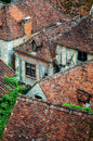 Free Old Village Detail Of Houses With Brick Roofs Stock Photo - 27042320
