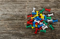 Free Some Colored Pushpins Stock Image - 27046281