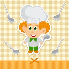Free Cheerful Little Cook Stock Images - 27040394
