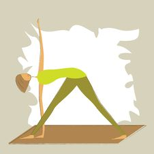 Free Stylized Yoga Triangle Pose. Stock Photo - 27040930