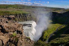 Free Gullfoss Wild Waterfall, Strong Running Water Stock Images - 27042294