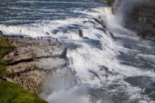 Free Gullfoss Wild Waterfall, Strong Running Water Stock Photo - 27042300
