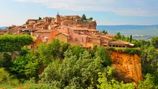 Roussillon Village Sunset View, Provence, France Royalty Free Stock Images