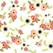 Free Flower Pattern Royalty Free Stock Photos - 27045228