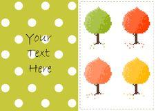 Free Autumn Trees Vector Card Royalty Free Stock Photo - 27046325