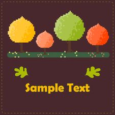 Free Colorful Autumn Trees Vector Card Stock Photo - 27046360