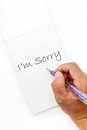 Free Sorry Hand Write Writing Royalty Free Stock Photo - 27054475