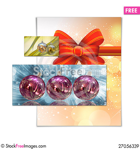 Free Christmas Card Illustration Royalty Free Stock Images - 27056339