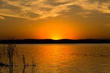 Free Sunset At Lake Balaton Stock Photography - 27053662