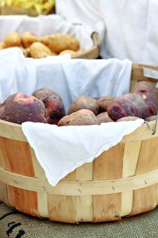 Free Basket Of Potatoes Stock Photo - 27054470