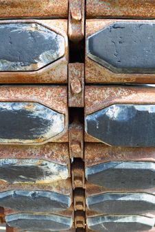 Rusted Tank Tracks Royalty Free Stock Image