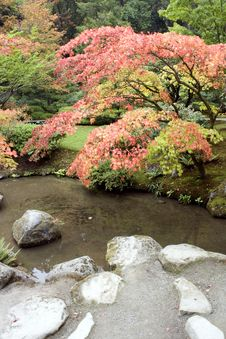 Free Autumn Charm In Japanese Garden Stock Photo - 27058580