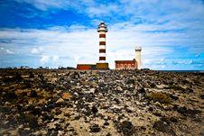Fuerteventura El Cotillo Lighthouse Royalty Free Stock Photography