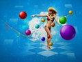 Free Girl In Bikini Dancing Stock Image - 27067051